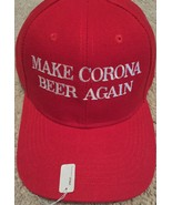 MAKE CORONA BEER AGAIN Red baseball hat adjustable 2020 Elections EMBROIDERED - $15.53