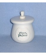 Russ Berrie Peace & Plenty Condiment Jar with Spreader Shamrocks - $5.99