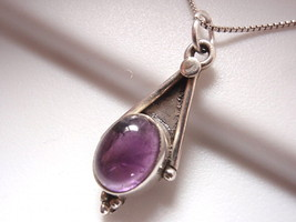 New Dainty Amethyst 925 Sterling Silver Pendant Purple Corona Sun Jewelry - $15.85