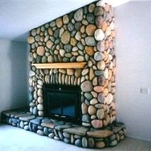 #OOR-01 River Rock Molds (12) Make 1000s Of Cement Stones For Fireplaces & Walls image 4