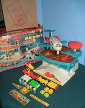 """Vintage Fisher Price #996 Play Family Airport """"RESERVED FOR NATASCHA"""" image 1"""