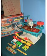 "Vintage Fisher Price #996 Play Family Airport ""RESERVED FOR NATASCHA"""