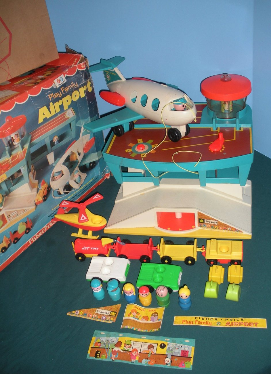 """Vintage Fisher Price #996 Play Family Airport """"RESERVED FOR NATASCHA"""" image 2"""