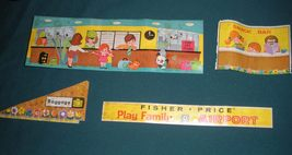 """Vintage Fisher Price #996 Play Family Airport """"RESERVED FOR NATASCHA"""" image 4"""