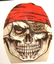 Creepy Zentai Morph PIRATE SKULL MASK Horror Monster Cosplay Costume Acc... - $3.93