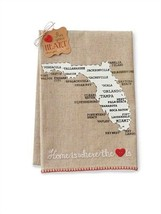 Florida State Linen Guest or Hand Towel - Home is where the heart is by ... - $13.53