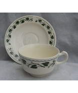 3 HOMER LAUGHLIN SYLVAN COFFEE CUP SAUCER SETS GREEN IVY LEAVES BRITTANY... - $18.80