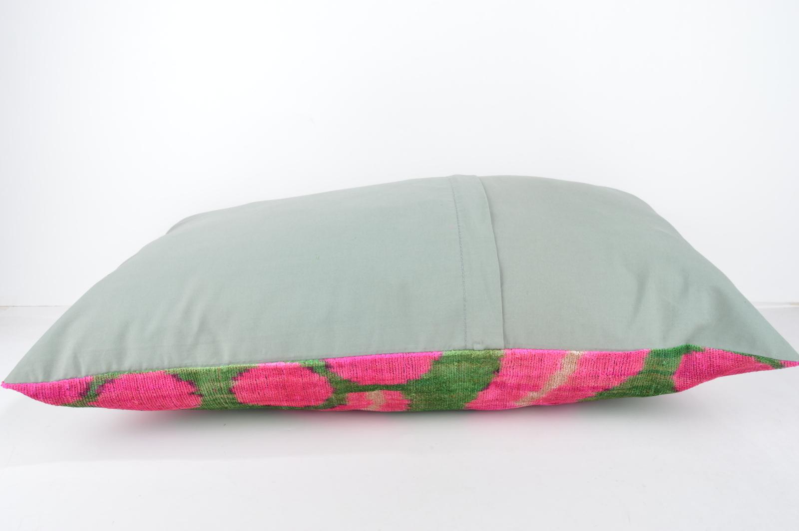 cushion ,16x24 lumbar Silk Velvet Pillow,velvet lumbar pillows,ikat sham