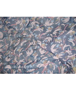 Blue/Silver/Red Pineapple Palm Trees Upholstery Fabric 9+ Yards - $49.95