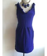Maeve Blue Ottoman Ruffle Dress Anthropologie S-Large - $65.00