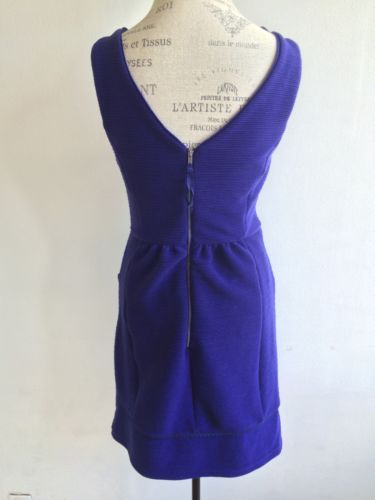 Maeve Blue Ottoman Ruffle Dress Anthropologie S-Large