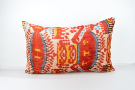 red lumbar cushion  16x24 lumbar Silk Velvet Pillow,velvet lumbar pillow... - $49.90
