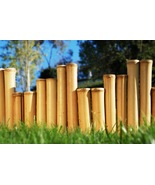 Bamboo Garden Border Edging-24 FT Commercial Grade Staggered Style Eco-F... - $115.00