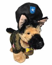 Build A Bear German Shepherd Pet Puppy Dog Plush Shepard in Army Fatigue... - $59.00