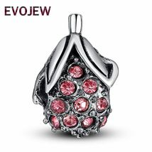 Heart Charm Silver Crystal Beads Pandora Love Mom Authentic Tibetan DIY Jewelry image 6