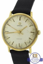 1966 Vintage Omega Century 18K Yellow Gold 33mm Silver-Toned 131026 Watch - $1,193.11