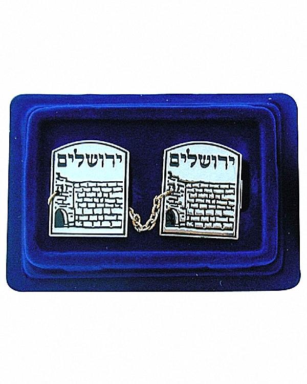 Tallit Clips Prayer Shawl Holder Jerusalem Wailing Wall Kotel Engraved Judaica