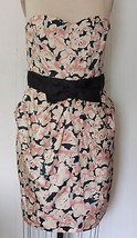 NEW H&M POLYESTER BLACK CORAL WATERCOLOR FLORAL... - $49.95