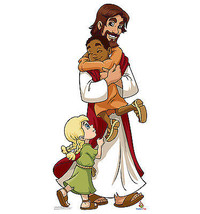 Jesus With Children Cartoon Religious Bible Cardboard Standup 2020 - $39.95