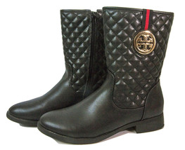 Tory Burch Black Leather logo Womens boots Size 9 - $69.95
