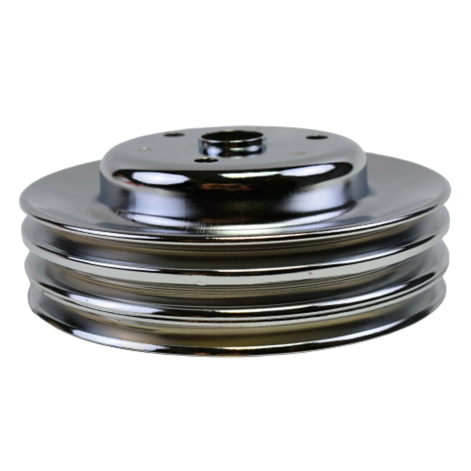 Crankshaft Pulley Triple-Groove LWP Long Water Pump For Chevy SBC 262 283 400
