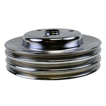 Crankshaft Pulley Triple-Groove LWP Long Water Pump For Chevy SBC 262 283 400 image 1