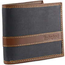 Timberland Men's Hunter Leather Waxed Canvas Credit Card ID Passcase Wallet image 14