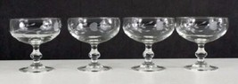4 Princess House HERITAGE Crystal Footed Sherbet/Low Champagne Glasses - $28.00