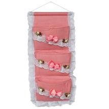 [Polka Dot & Lace] Pink/Wall Hanging/ Wall Baskets(11*22) - $14.99