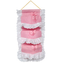 [Polka Dot & Plaid]Pink/Wall Hanging/Wall Organ... - $13.99