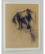 Dachshund Note Cards Dog Art Solomon - $12.50
