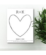 Personalized Story Guestbook Keepsake Canvas - Unique Wedding Guest Book - $77.58
