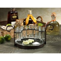 #12010109 Fiesta Six Shot Tequila Set with Stand & Tray - $1.939,45 MXN