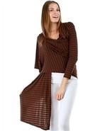 Brown Hi Lo Wrap Hang Long On each side Short in back Women Wrap Shawl s... - $25.19
