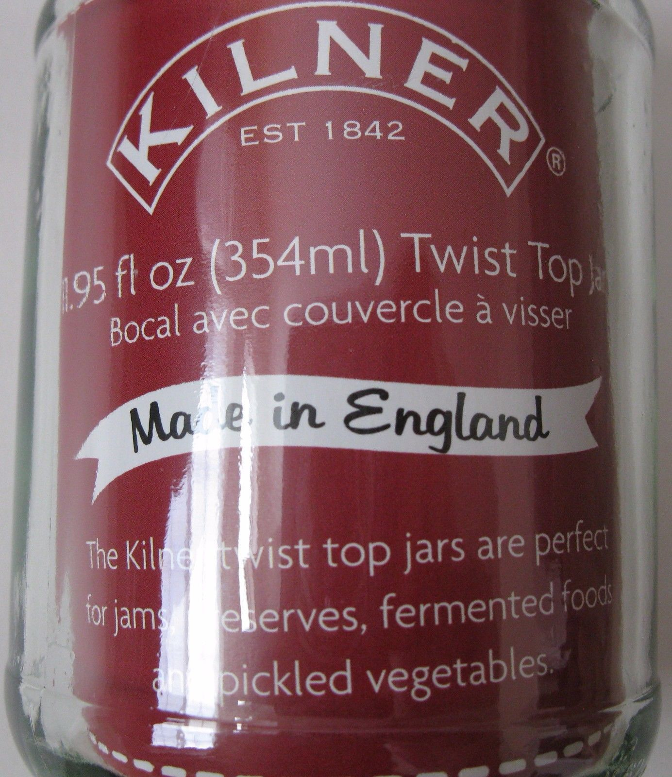 LOT OF 25 KILNER TWIST TOP GLASS JARS 11.95OZ.CANNING PRESERVES ENGLAND NEW