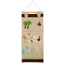 [Duck &Flowers] Ivory/Wall Hanging/Wall Pocket ... - $18.99
