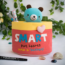 [Bear & Hearts]Wall Organizer Storage Box (6*7*... - $13.99