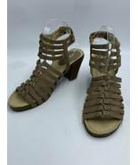 JBU By Jambu Sugar Encore 8 Tan Strappy Gladiator Heels Sandals Shoes - $24.99