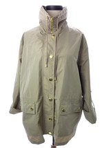 Women's Windbreaker JM Collection Beige Sand Turtleneck Lightweight Jack... - $15.29