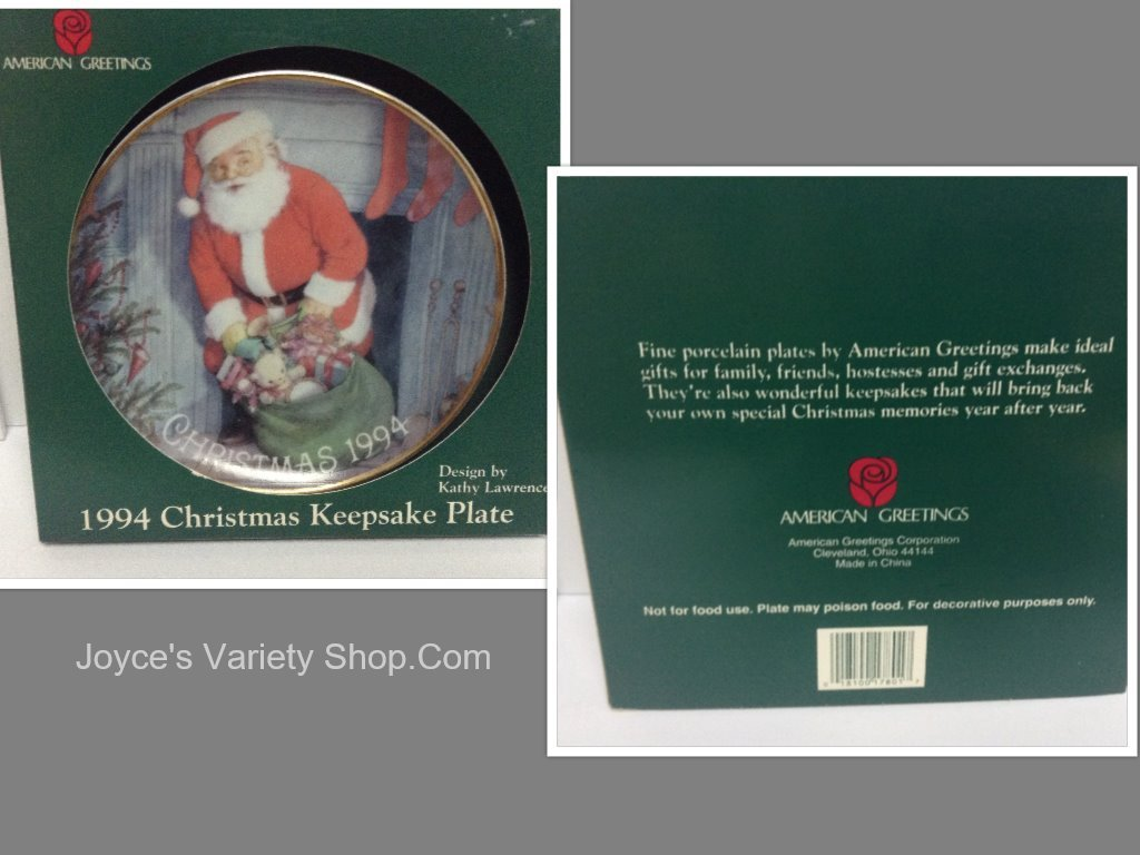 Christmas plate american greetings collage