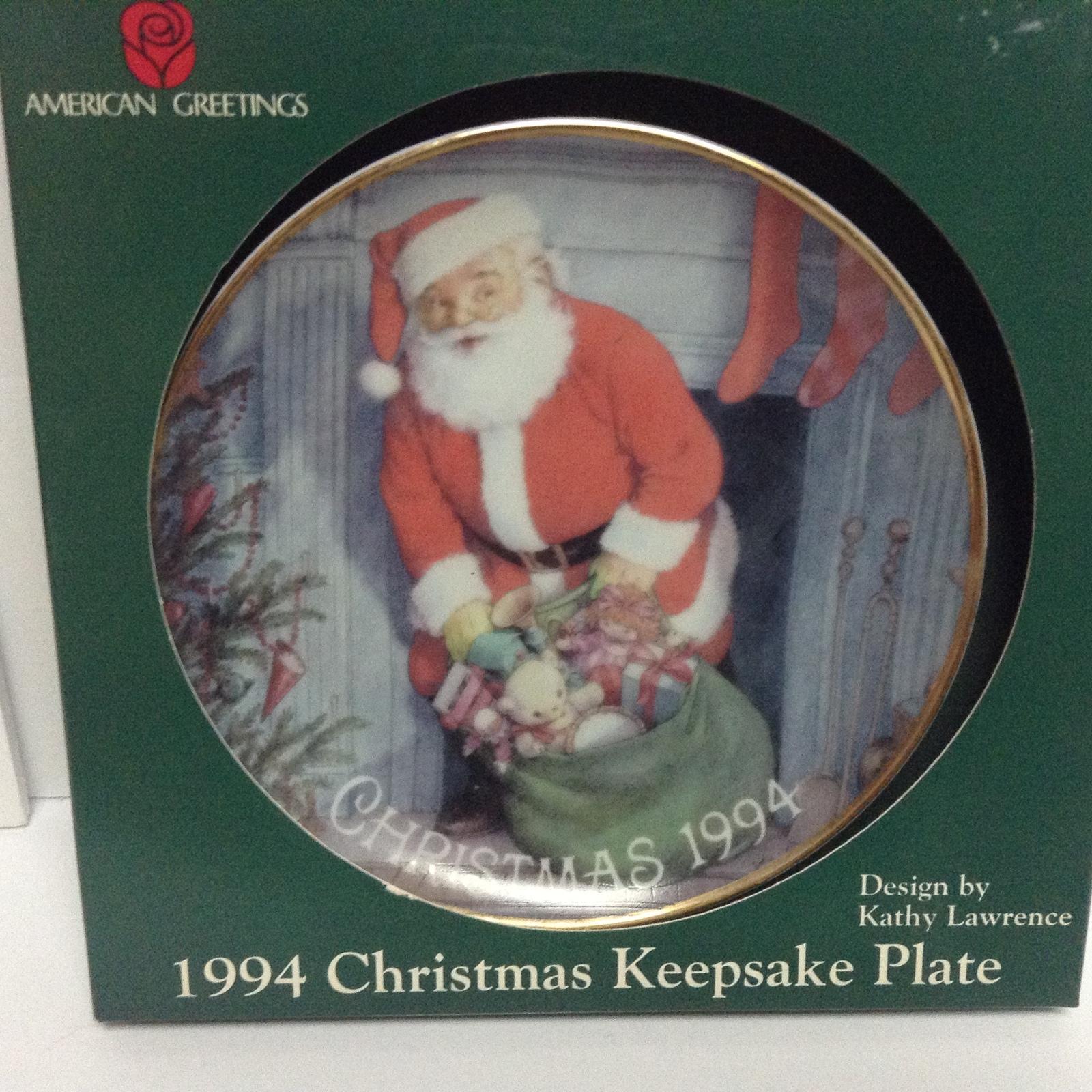 American Greetings Christmas Plate 1994 New in Box Santa