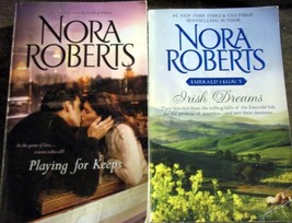 Two Nora Roberts Favorites:Irish Dreams and Playing for Keeps 2 Books 4 ... - $7.99