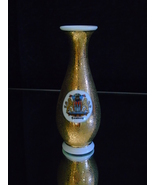 Royal Porzellan Bavaria KM Germany Speckled Gold Small Vase  - $25.00