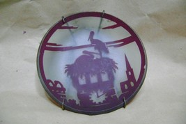 vintage art Glass miniature plate - $29.70