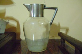 vintage WMF jugs pitchers Silverplate and glass. - $84.15