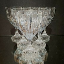 6 (Six) MIKASA PARK LANE Cut Lead Crystal Wine Goblets Glasses - $94.99