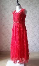 A-Line Princess Floor Length Flower Girl Dress-Tulle Sleeveless Scoop Neck NWT image 3