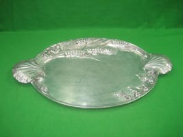 Vintage Aluminum Serving Tray Platter By Arthur Court Designs Intricate ... - $51.38