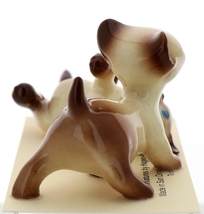 Hagen-Renaker Miniature Cat Figurine Siamese Large Kitten on Back and Walking image 4
