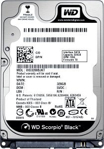 "WD1600BJKT 160GB SATA 9.5MM 3GB/S 7200 RPM 2.5"" 9.5MM Hard Drive"